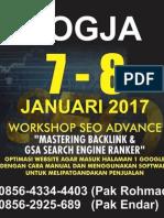 Pelatihan SEO GSA Search Engine Ranker Jogja 2017