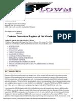 Preterm Premature Rupture of the Membranes _ GLOWM