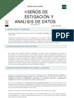 Guida Didactica Disenos de investigacion y analisis de datos