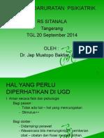 KeDaruratan RS Sitanala,20 Sept'14