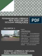 Perbandingan Lembaga MPR Sebelum Dan Sesudah Amandemen UUD