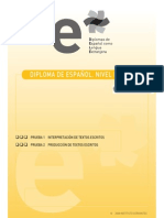 Diploma de español.Nivel inicial