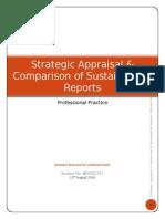 Strategic Appraisal & Comparison of Sustainability Reports