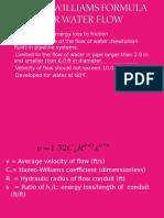 Hazen-williams Formula for Water Flow