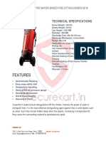 Features of Ceasefire Water Fire Extinguisher - 50 Ltrs