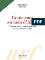 Gouverner Au Nom DAlah_Boualem Sansal