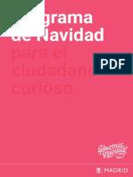 Programa de Navidad del Ayuntamiento de Madrid