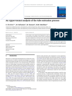 An Upper-bound Analysis of the Tube Extrusion Process