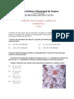 Matemática - Atividades 03