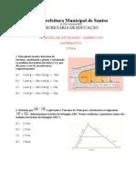 Matemática - Atividades 04