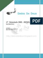 DDD - 2o Simulado IME (MAT) - Resolução