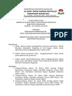 Sk Pemberlakukan Pengorganisasian Rm