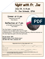 Friday Night With Fr. Joe flyer