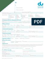 DU Application Form