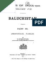 Census of India 1901 Baluchistan Vol-V-B Part-III Provincial Tables