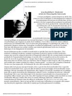 Comprendre La Modernité Avec Jean Baudrillard _ Association Kodon