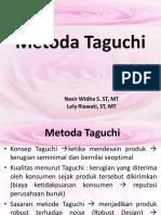 Metoda Taguchi SP