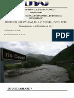 medición de caudal en un rio