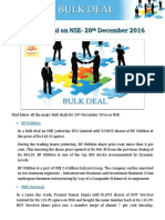 Major Bulk Deal on NSE- 20th December 2016