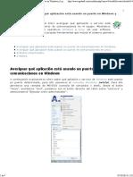 Cómo Averiguar Qué Aplicación Está Usando Un Puerto en Windows y Linux Proyecto AjpdSoft