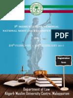 Registration Form for Moot Court