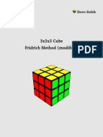 3x3x3 Rubik's Cube Fridrich Modified (English)