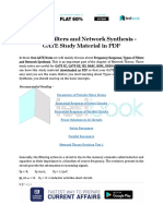 Types of Filters and Network Synthesis - GATE Study Material in PDF