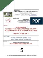 5 Planning prévisionnel travaux Modernisation prétraitement EU abattoir Quillan Marché n°15 001 axe 6.pdf