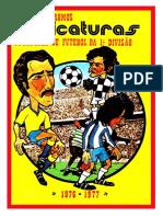 Caricaturas Jogadores de Futebol Da 1a Divisão 1976-1977