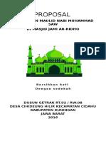 Proposal Panitia Peringatan Maulid Nabi Muhammad Saw