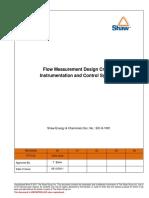 Flow Measurement Design Criteria