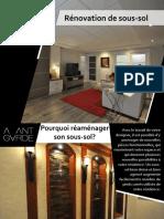 Rénovation de sous-sol à Québec par l'Atelier Avant-Garde