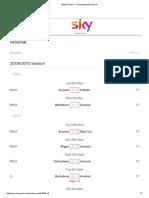 2009_10 Season - Arsenal Results & Scores