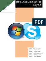 Microsoft skype analysis