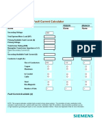Available Fault Current Selective Coordination Spreadsheet