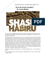 Shasu or Habiru - Biblical Archaeological Review 34