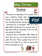 Holiday Stories Comprehension Christmas