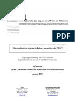 Discrimination against religious minorities in Iran
