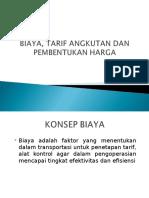 10. Biaya Tarif Angkutan Dan Pembentukan Harga