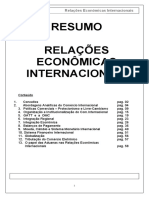 Resumo Relações Econômicas Internacionais
