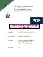 Informe de Materiales Plasticos en Palta