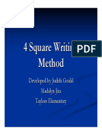Four Square Writing Technique