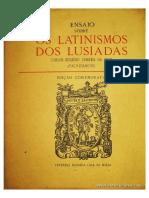 Frontispício de Os Latinismos dos Lusíadas