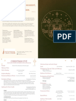 Christmas Eve 2016 Traditional Service Bulletin | First Presbyterian Church of Orlando