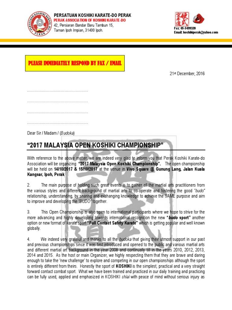 Invitation letter 2017 koshiki open championship karate combat invitation letter 2017 koshiki open championship karate combat sports stopboris Image collections