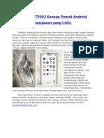 Mobiado CTP002 Konsep Ponsel Android
