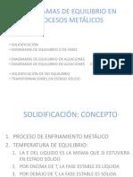 Diagramas de Equilibrio en Procesos Metalicos