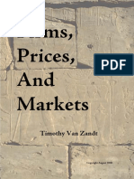 Firms Prices and Markets