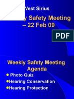Hearing Conservation PresentationSAFETYMTG