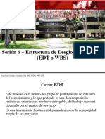 PAE Sesion 6 - EDT Proyectos